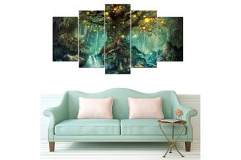 5PCS Tree of Life Canvas Print Large Painting Pictures Wall Art Hanging Decor 5 Piece Tree of Life Wall Art Hanging Decor Canvas Print Large Painting Pictures #Unframe XL
