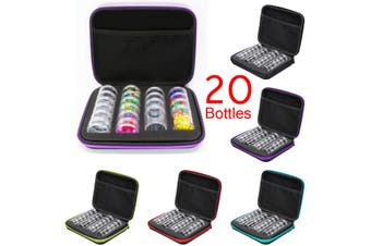 20 Bottles Diamond Painting Embroidery Accessories Box Case Storage Box Portable