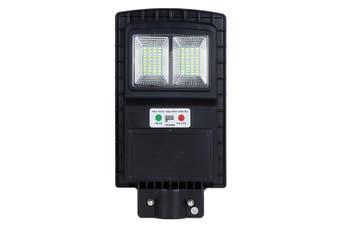 150W LED Solar Street Light PIR Motion Sensor Wall Outdoor Graden Lamp + Remote Black