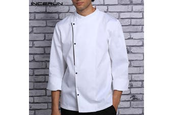 INCERUN Long Sleeves Shirt Hotel Waiters Kitchen Uniform Tops for Men