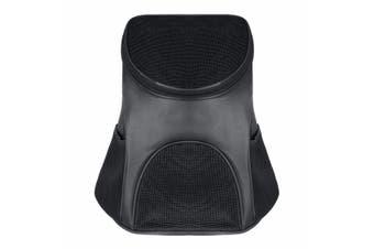 Portable Cat Dog Pet Double Shoulder Mesh Bag Backpack Travel Carrier Case Pouch -Black