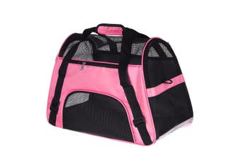 Pet Puppy Cat Dog Carrier Shoulder Bag Travel Carry Pouch Handbag Backpack Pink