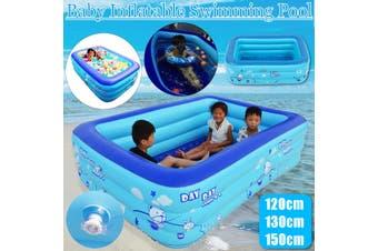 120/130/150cm Baby Swimming Pool Inflatable Kids Pool Bathing Tub Outdoor Indoor