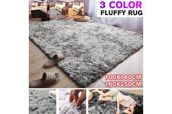 Solid Color Fluffy Soft Carpet Anti-skid Floor Shaggy Area Mat Home 100x160cm/160x250cm
