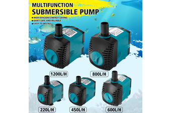 Multifunction Astro Submersible Water Pump Fish Tank Aquarium Pond Fountain 220-1200L/H