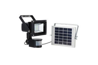LED Outdoor Security Floodlight with Light Sensor and Solar Charger, Motion Activated for Courtyard, Architectural lighting, Garage, Park, White light
