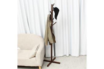 Mu Ma Ren Simple solid wood floor coat rack living room bedroom hanger storage rack SizeA