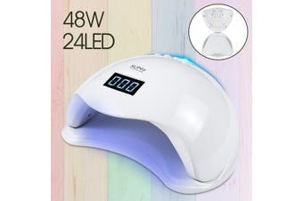 Sun 5 Professional 48W 24LED UV Nail Lamp Nail Dryer Gel Polish Curing Machine