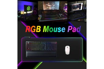 LED Light RGB Waterproof Rubber Mouse Pad USB 7 Dazzle Colors Gaming Mice Mat