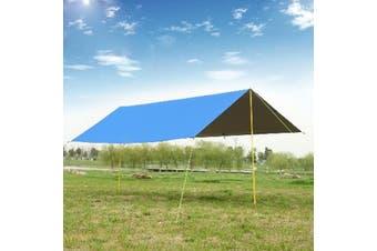 210*300cm Waterproof Tent Tarp Awning Sun Shade Rain Shelter Camping Mat Pad(blue,Only Sky screen 300 x 300cm Type 1)