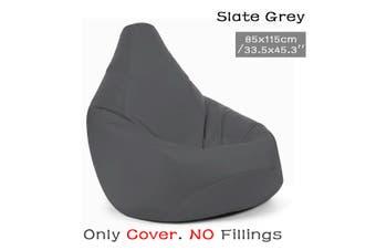 Dark grey Waterproof Bean Bag Chair Indoor/Outdoor Gamer Beanbag Seat Cover (Filling not included)
