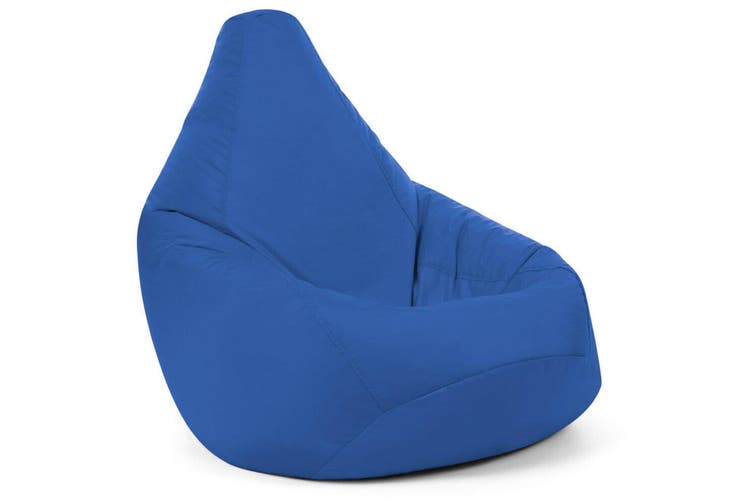 BLUE 85x115cm Waterproof Bean Bag Chair Indoor/Outdoor Gamer Beanbag Seat Cover (Filling not included)