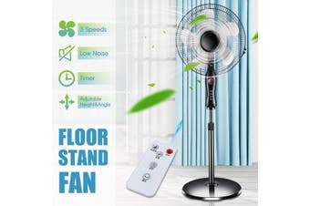 16Inch Floor Fan Stand Fan With Remote Control