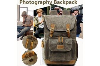 Premium Vintage Photography Camera Bag Water-proof Backpack SLR Canvas fashion Large Bag