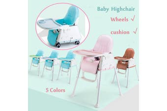 Adjustable Baby Comfortable High Chair Safe Feeding Highchair For Kids/Toddler