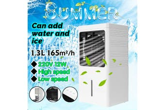 220V Portable Air Conditioner Fan Humidifier Cooler Cooling System Home Office