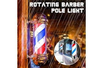 Barber Shop Pole Red White Blue Rotating Light Stripes Sign Hair Salon New EU Plug