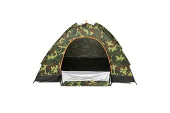 Fully automated tent 1-2/2-3 Persons Single/Double Door Camping Tents Automatic Instant P op Up Tent Anti-UV Waterproof Portable for Outdoor Camping Hiking Beach Mountaineering(camouflagegreen,S Size)