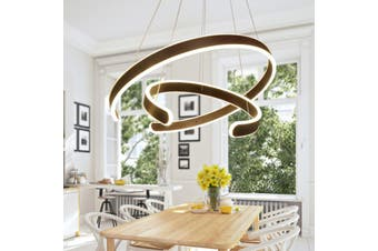 Modern LED Pendant Light Ceiling Lamp Chandelier Bedroom Home Fixture W/ Remote(Dimmable(With Remote Control))
