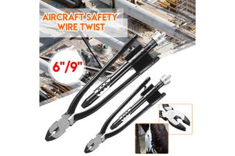 6'' Aircraft Lock Wire Twisting Safety Pliers Set Locking Nuts Safety (6 inch)