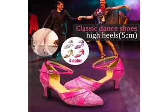 Nis Fashion Women's Ballroom Tango Latin Salsa Dancing Shoes Sequins Shoes Social Dance Shoes