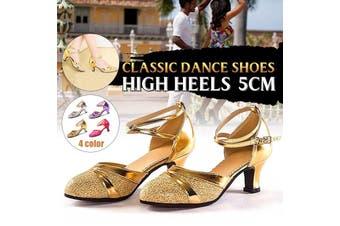 5.5 Cm Heel Pump Fashion Women's Latin Dance Shoes High Heels Ankle Strape Ladie's Ballroom Tango Elegant Dance Shoes