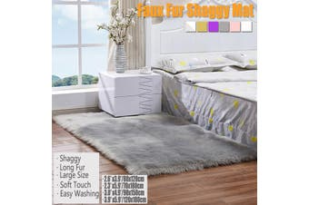 Soft Fur Carpet Mat Faux Wool Sheepskin Rugs Fluffy Plush Rug Floor Carpet Home Living Room Bedroom Rug(Pink)