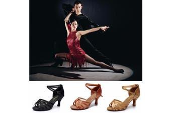 Women Waltz Latin Tango Heeled Salsa Sandals Ballroom Prom Party Dancing Ballroom Latin Tango Dance Shoes heeled