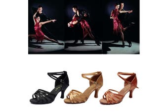 Nis Women Waltz Latin Tango Heeled Salsa Sandals Ballroom Prom Party Dancing Ballroom Latin Tango Dance Shoes heeled