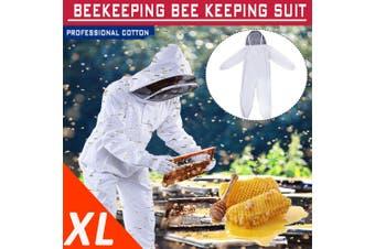 Professional Cotton Full Body Beekeeping Bee Keeping Suit w/ Veil Hood L/XL/XXL
