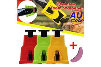 Chainsaw Teeth Sharpener Chainsaw Sharpener Bar-Mount Chain Saw Chain Sharpening Kit Green Red