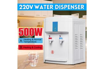 220V Water Filter Machine Ice/Cold Hot Water Cooler Dispenser Table Office Home