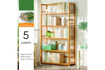 5 Tier Bookcase Bookshelf Wall Shelf Ladder Storage Rack Display Furniture