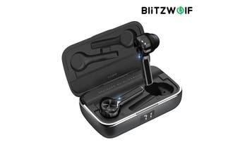 BlitzWolf BW-FYE6 TWS Wireless bluetooth 5.0 Earphone Graphene Digital Display Touch Control Type-C 40h Life Time 800mAh Battery Bilateral Call Headphone - Black