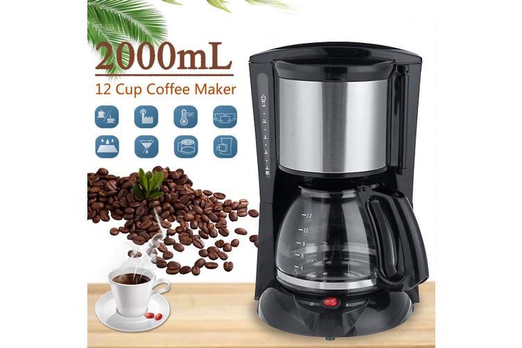 Home Office American Style Drip Tea/Coffee Making Machine 12 Cup Coffee Maker