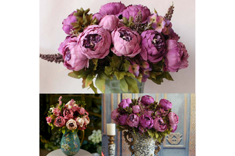 1bunch Artificial Silk Peony Flowers Home Garden Wedding Party Bridal Decor Diy Bouquet Decoration