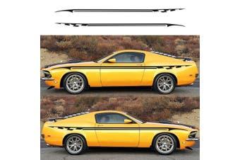 "2Pcs 138""x3"" DIY Auto Vinyl Racing Stripe Car Side Body Sticker Decals For Car Vehicle Waterproof Scratchproof 4 Colors"