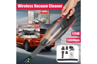 5000Kpa 120W 2200mAh Portable Rechargeable Wireless Handheld For Car/Home Cordless Vacuum Cleaner With LED Light