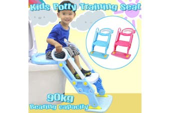 Baby Toddler Soft Toilet Chair Ladder Adjustable Safety Potty Training Seat