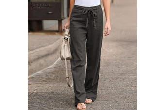 ZANZEA Womens Palazzo Pants Ladies Wide Leg Bottoms Summer Beach Casual Trousers(grey,5XL)