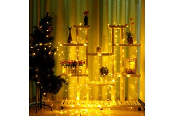 3x3M Warm White 300 LED Window Curtain Light 8 Modes Fairy String Lights Indoor Outdoor Decorative Christmas Twinkle Lights for Bedroom Wedding Backdrop Patio Wall AU Plug 220V