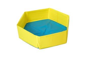 Large Portable Foldable Pet Dog Swimming Pool Puppy Cat Bathtub Bathing Tub(orange,Yellow)