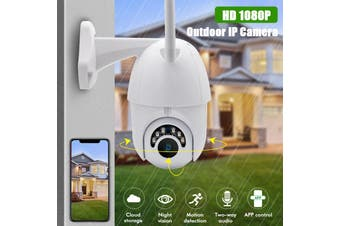 1080P Security Camera Outdoor Onvif HD Vandalproof Camera Infrared Night Vision Pan/Tilt/Zoom Viewing Angle Waterproof Remote control(AU Plug 1080p)