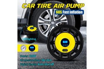 12V Portable Car Air Pump Compressor Tire Inflator Tyre Digital LED Light