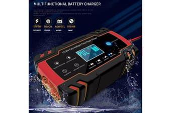 150AH 12V 24V 8A Touch Screen Pulse Repair LCD Car Lead Acid Battery Charger-AU Plug