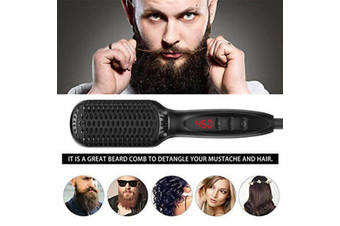 Electric Digital Beard Straightener Brush Hairdressing Comb Multifunctional Man Woman Hair Straightening Brush Beard Electric