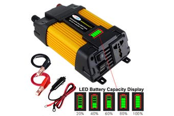 6000W Peaks 12V DC TO 110V/220V AC Car Solar Power Inverter Converter Charger-12-220v