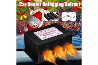 12/24 600/800W 3Holes Electric Car Heater Defogging Defrosting Fast Heating Car Fan Heater Set