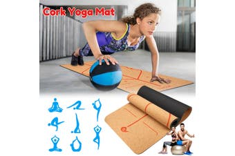 Anti-wrinkle thickening cork TPE yoga mat non-slip exercise fitness Pilates yoga