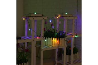30 LED 6.5M Solar Powered LED Bulb Fairy String Light Outdoor Garden Party-Colourful